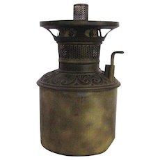 Little B&H Oil Lamp Brass Font