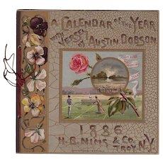 1886 Calendar in Book Form - Advertising