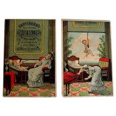 Comical trade cards - baby, nurse, shade roller