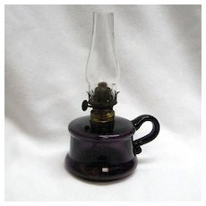 Little Buttercup Miniature Oil Lamp - Amethyst