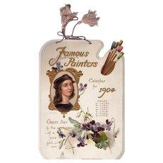 1904 Die Cut Tuck Calendar