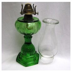 : Emerald Green Victorian Oil Lamp