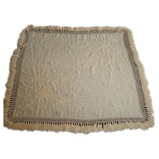 19th Century Embroidered Table Scarf