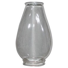 Oval Oil Lamp Chimney Patented 1880 - Pinafore no. 1