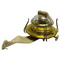 Pat. 1870s Glass Cone Oil Lamp Burner - Bing