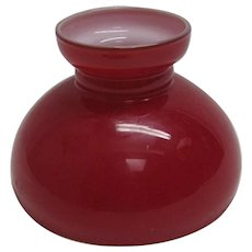 Red Cased Glass Mini Oil Lamp Shade