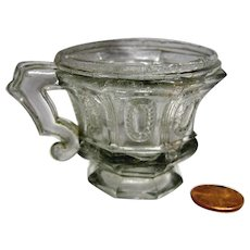 Early Pressed Miniature Child's Cup c1835-1850
