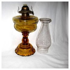 Adams Apollo Amber Oil Lamp