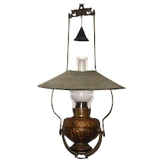 1880s Country Store or Saloon Style Hanging Oil Lamp