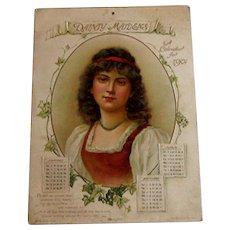 1901 Large Dainty Maidens Calendar