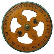 Vintage Carnival Game Wheel of Chance Philadelphia Mfg.