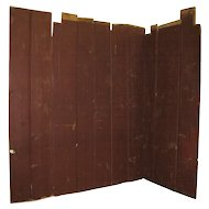 Antique Painted Kitchen Wooden Wall Boards from 1735