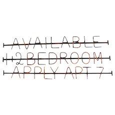 Vintage Iron Trade Sign Apartment Rental Sign