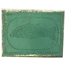 Antique Punched Tin Pie Safe Tins Folk Art Fish Pattern