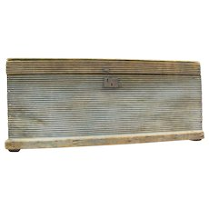 Antique Painted Ribbed Blanket Box Maine