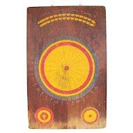 Vintage Wooden Dart Board Dog Race