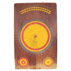 Vintage Wooden Dart Board Dog Race