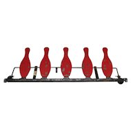 Vintage Iron Shooting Gallery Targets Unique Bowling Pins Shape