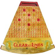 Vintage Colorful Carnival Penny Pitch Game Board