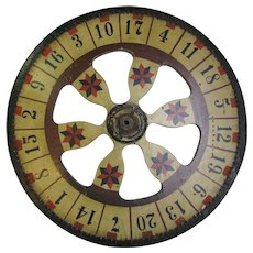 Vintage Painted Carnival Game Wheel of Chance