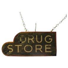 Vintage Drug Store Ex Neon Tin Sign