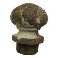 Antique Cast Iron Flower Post Topper