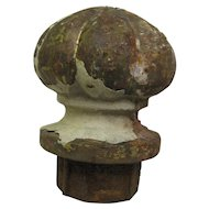 Antique Cast Iron Flower Post Topper