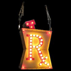 Vintage Lighted RX Pharmacy Trade Sign