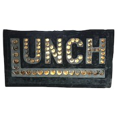Antique Punched Tin Lunch Sign