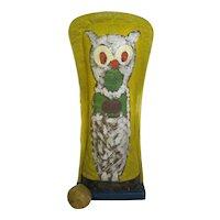 Vintage Rare Large Carnival Knockdown Owl Target Punk