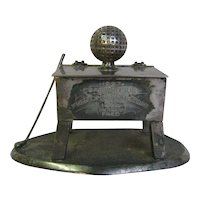 Antique Golf Lidded Box Trophy 1927