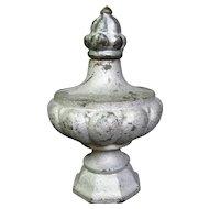 Antique Cast Iron Finial Bulbous Flower Bud