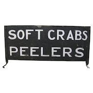 Vintage Crabs Roadside Stand Sign