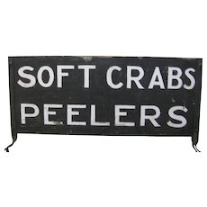 Vintage Crabs Roadside Stand Sign