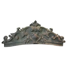 Antique Pair Cast Iron Lintels