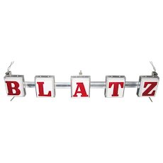 Vintage Lighted Blatz Beer Sign