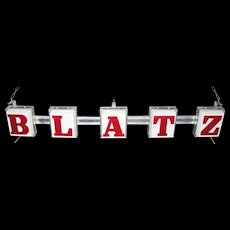 Vintage Lighted Blatz Beer Sign