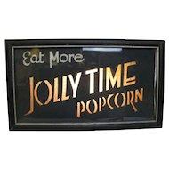 Vintage Lighted Jolly Time Popcorn Sign