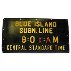 Vintage Bakelite Chicago Subway Schedule Sign
