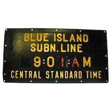 Vintage Bakelite Chicago Subway Schedule Sign