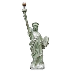 Antique Bronze Statue of Liberty Wonderful Detail