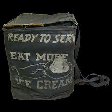 Vintage Ice Cream Canvas Delivery Bag