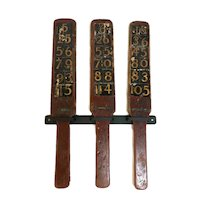 Vintage Set Of Three Carnival Game Wheel Betting Paddles