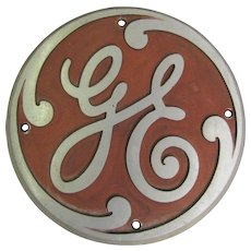 Vintage Cast Aluminum General Electric Locomotive Badge 143508-F