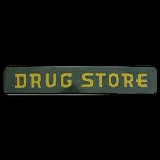 Vintage Enameled Drug Store Sign