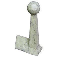 Antique Zinc Building Top Finial Diminutive Size