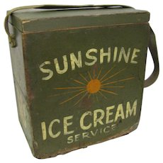 Vintage Ice Cream Stadium Vendors Box