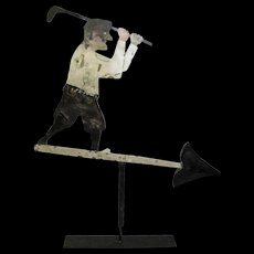 Vintage Sheet Iron Golfer Weather Vane