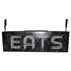 Vintage Neon Eats Sign Two Sided