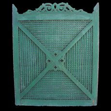 Antique Painted Wooden Folk Art Gate or Shutter